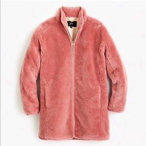J. Crew | Glass Petal Teddy Jacket Medium NWT Pink